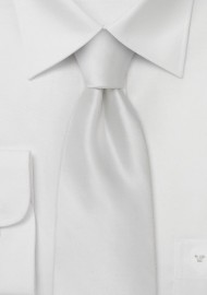 White silk tie  -  Formal silk tie popular choice for wedding parties
