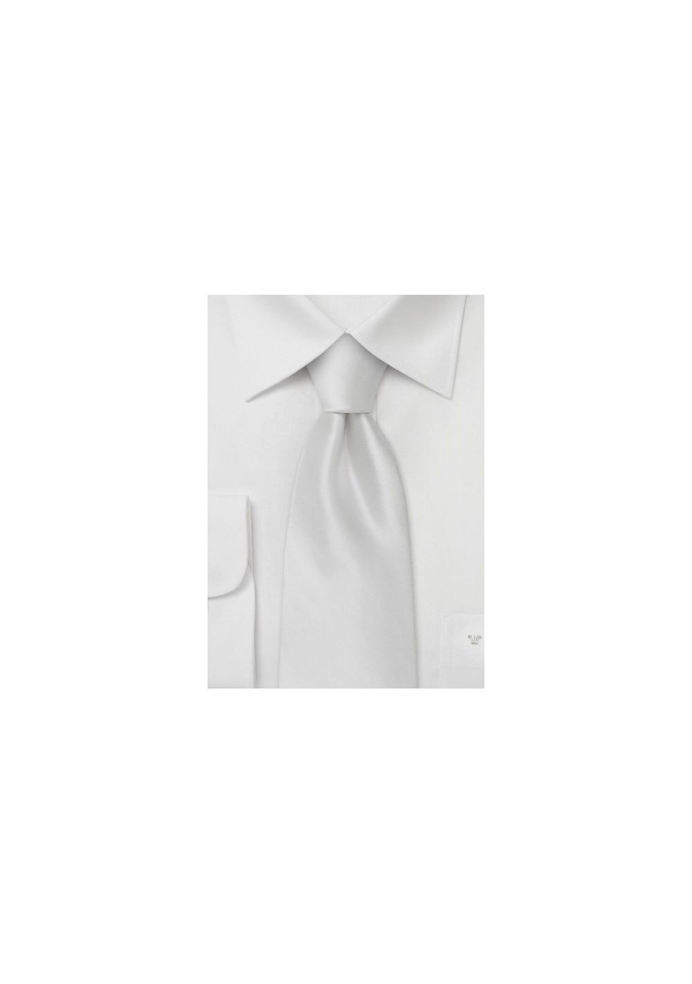 White silk tie  -  Formal silk tie popular choice for wedding parties