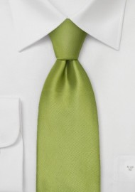 Extra Long Necktie - Sage green silk tie