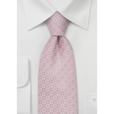 Designer neckties - Handmade silk tie in light pink
