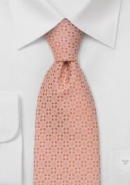Designer neckties - Peach-pink silk tie