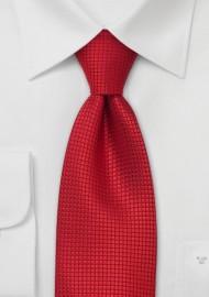 Silk Ties - Bright red silk tie
