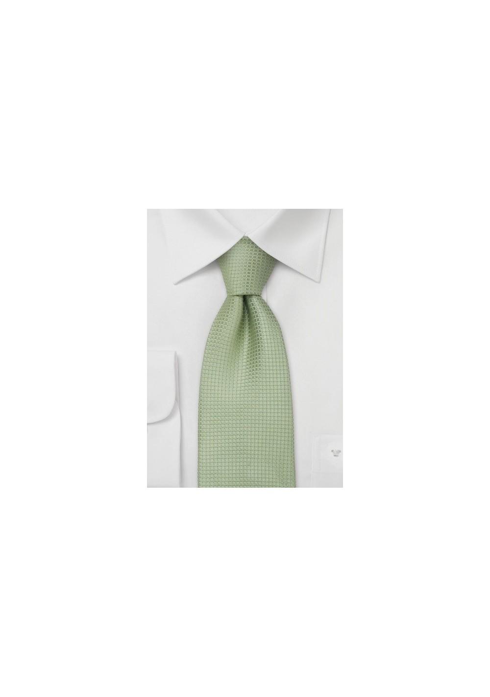 Extra Long Ties - Light apple green XL necktie