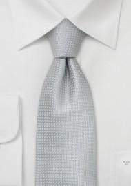 Silver Extra Long Ties - XL silk tie in silver