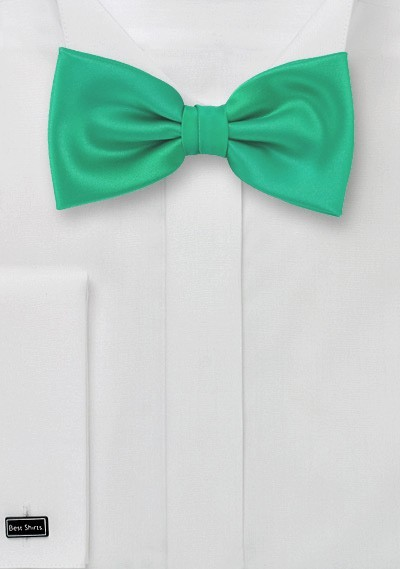 Bow ties  -  Jade green men's bow tie