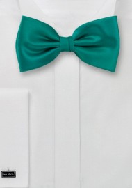 Bow ties  - Solid color bow tie in sea-green color