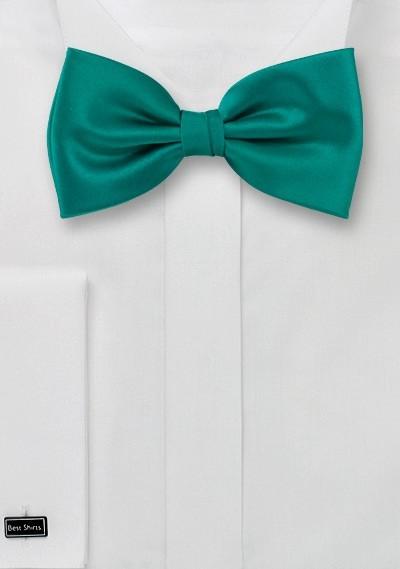 Bow ties  - Solid color bow tie in sea-green color