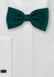 Dark green Bow-tie  -  Solid color bow tie in a dark forrest green color