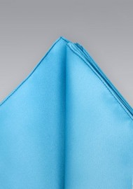 Turquoise blue Hankie  -  Hankie in solid turquoise blue
