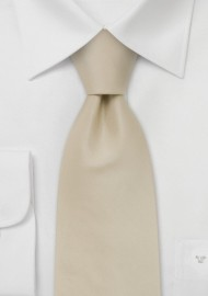 Extra Long Ties -  Handmade XL tie in cream color