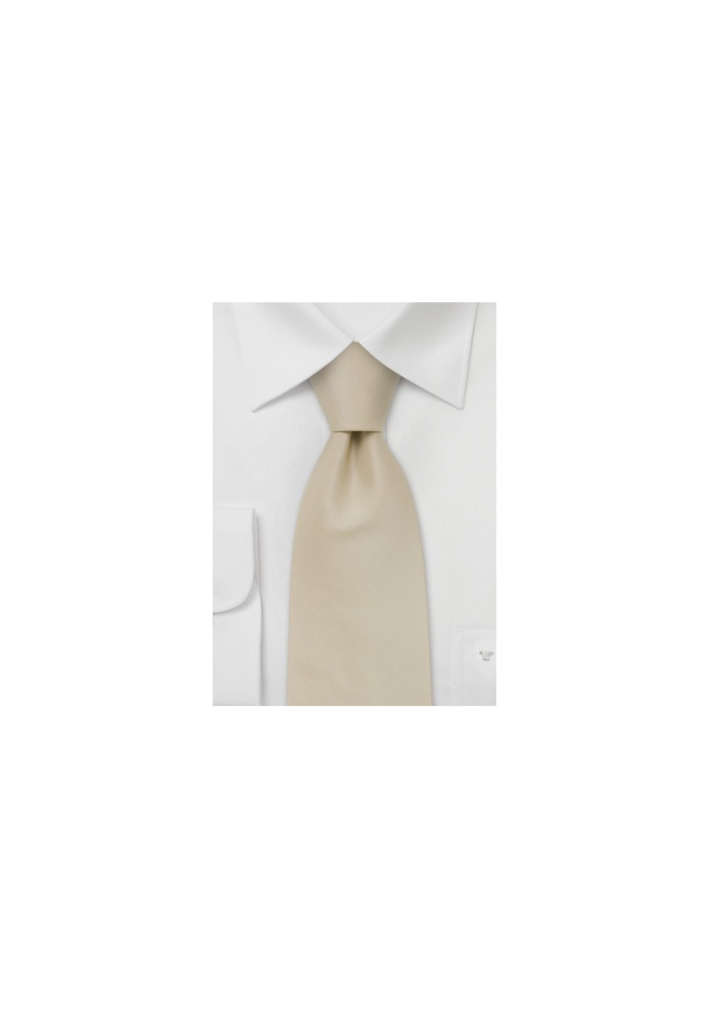 Extra Long Ties -  Handmade XL tie in cream color
