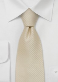Extra long ties - Cream/tan colored XL-Necktie