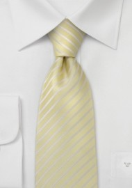 Vanilla Yellow Silk Tie for Kids