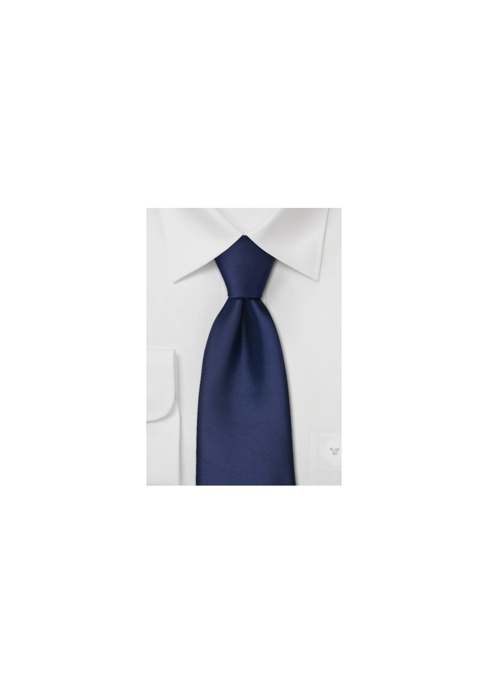 Clip on ties - Dark blue clip on tie