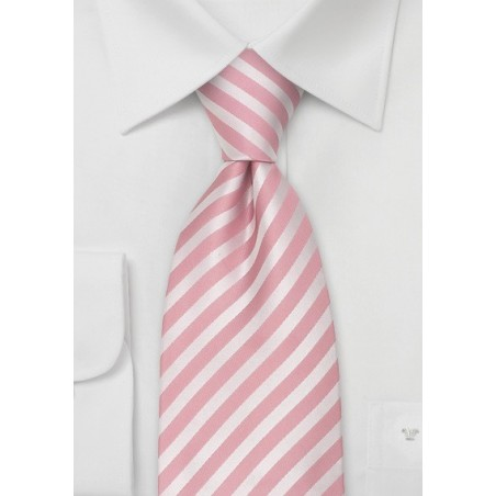 Pink Extra Long Ties - Pink silk tie in XL length