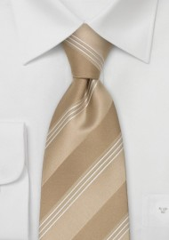 Italian Design Neckties - Tan Necktie by Cavallieri