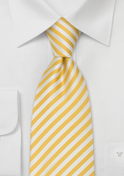 """Yellow Striped Ties - Striped Tie """"Signals"""" by Parsley"""