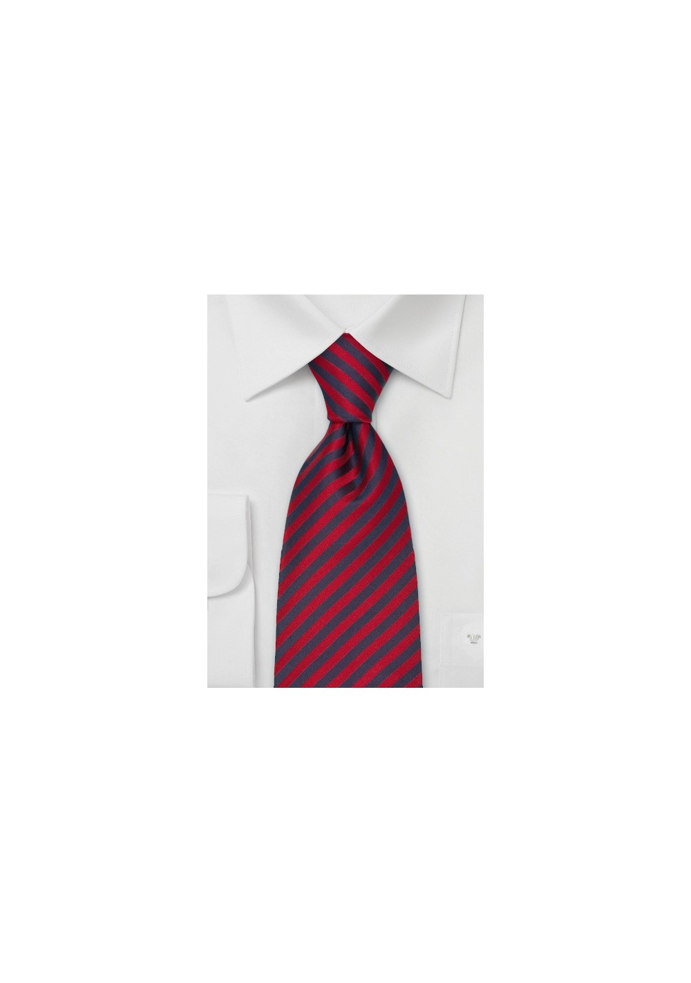 Extra Long Ties - Red & Blue Striped Tie in XL