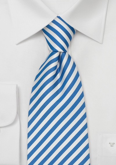 Kids Ties - Royal Blue & White Kids Tie