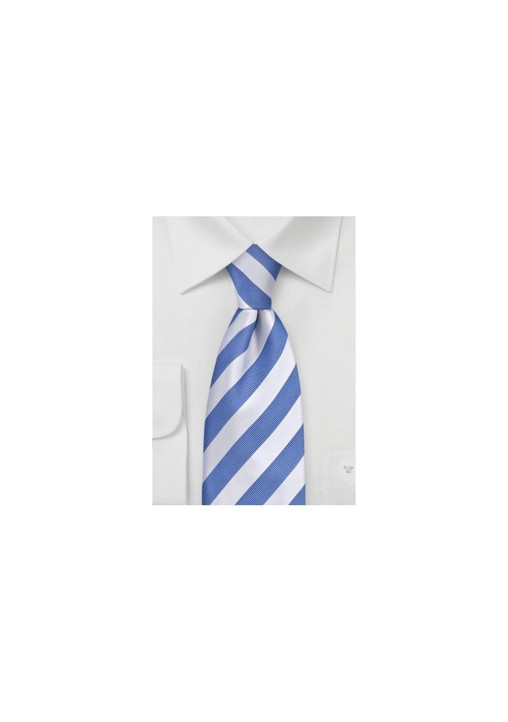 """Extra Long Light Blue Ties - Striped Necktie """"Identity"""" by Parsley"""