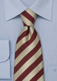 Elegant striped neckties - Gold and red striped tie