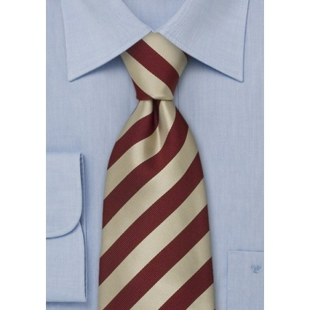 "Extra Long Striped Neckties - Striped Tie ""Identity"" by Parsley"