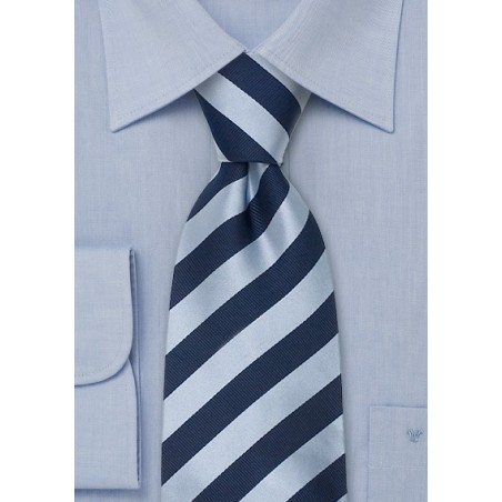 Blue striped ties - Striped silk tie in blue