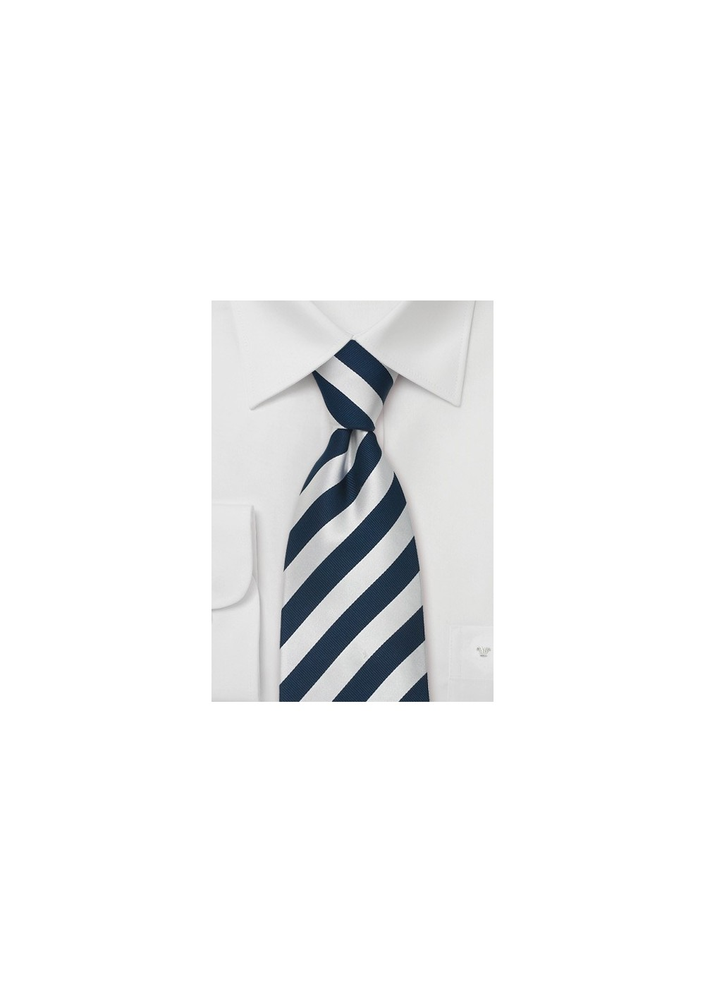 """Blue Striped Extra Long Ties - Striped Necktie """"Identity"""" by Parsley"""