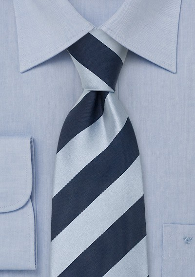 """Blue Extra Long Neckties - Striped Tie """"Lighthouse"""" by Parsley"""