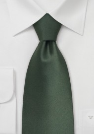 Dark Green Neckties - Solid Hunter Green Silk Tie