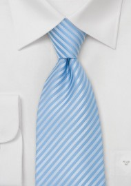 Powder Blue Striped Necktie