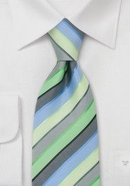 Trendy Striped Necktie