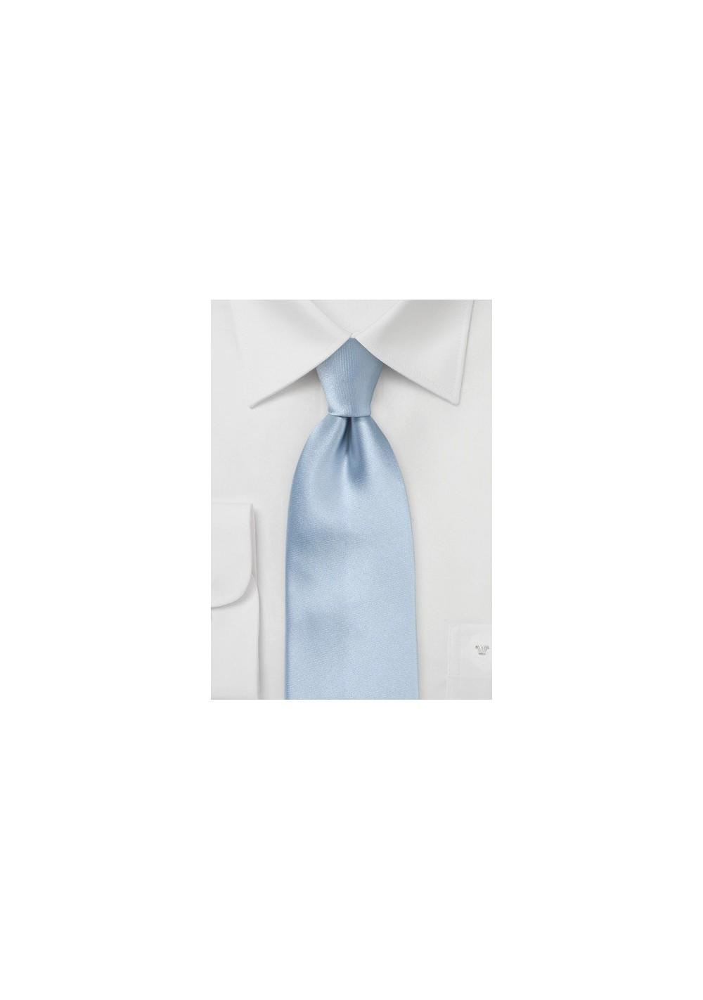 Light Blue Silk Tie in XL Length
