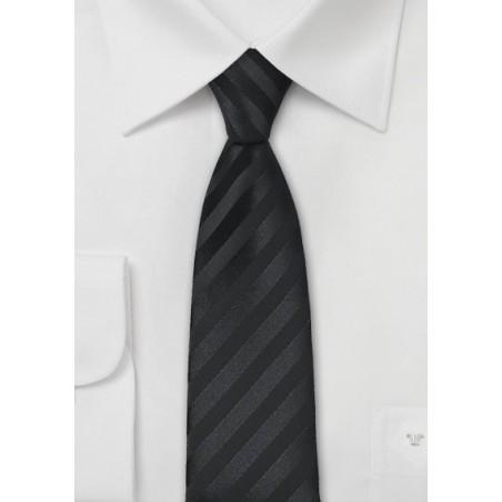 Striped Black Skinny Tie