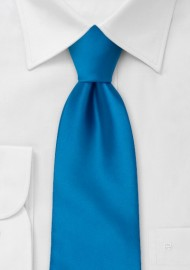 Solid Bright Blue Necktie