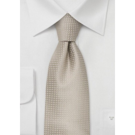 Elegant Summer Tie in Wheat-Tan Color