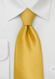 Kids Silk Tie in Golden Yellow