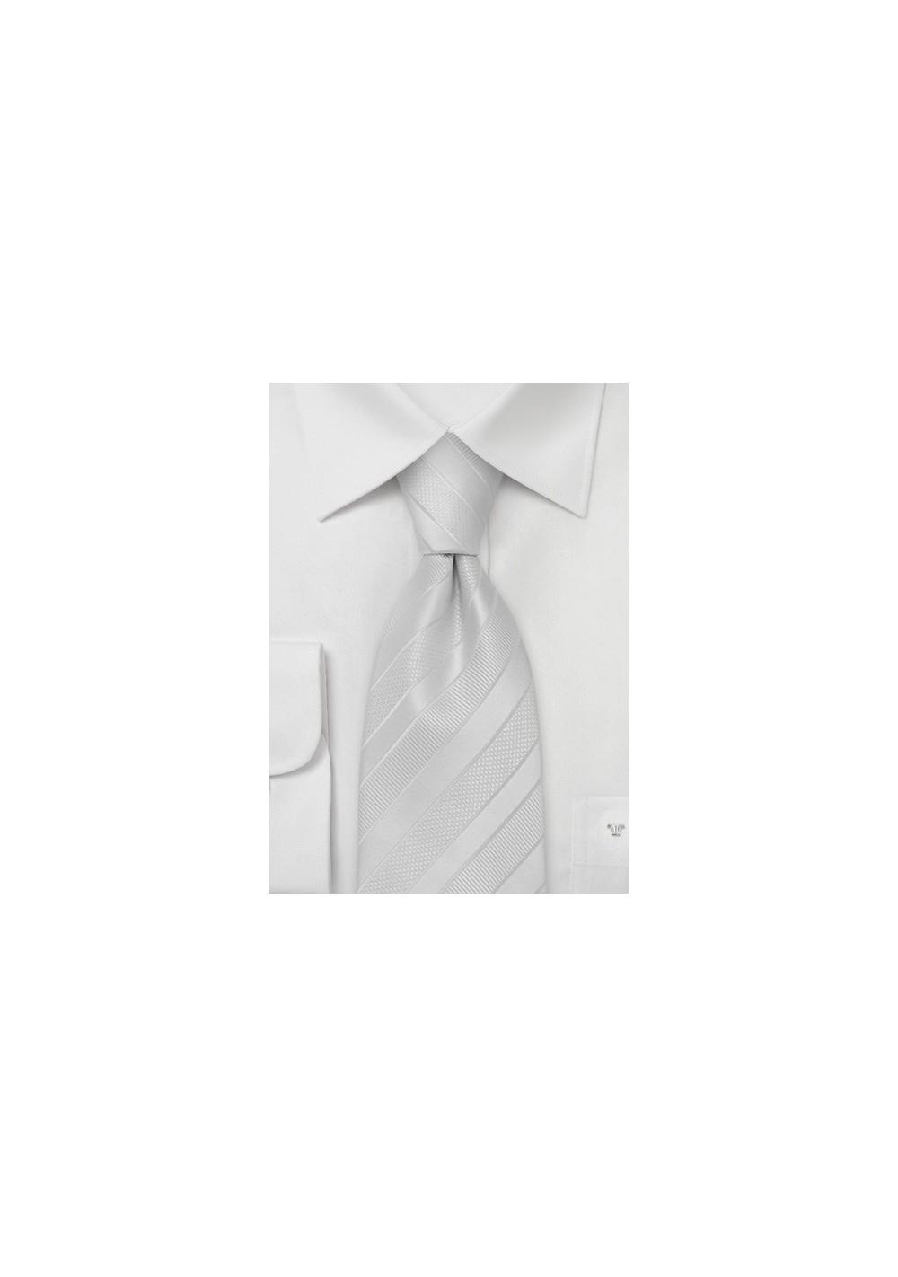 Elegant and Formal Ivory Necktie