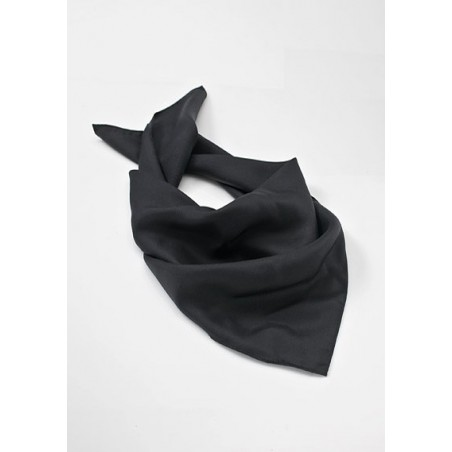 Solid Black Women's Silk Scarf