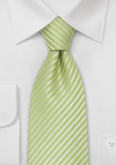 Bright Green Silk Tie for Kids