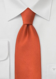 Solid Necktie in Persimmon-Orange