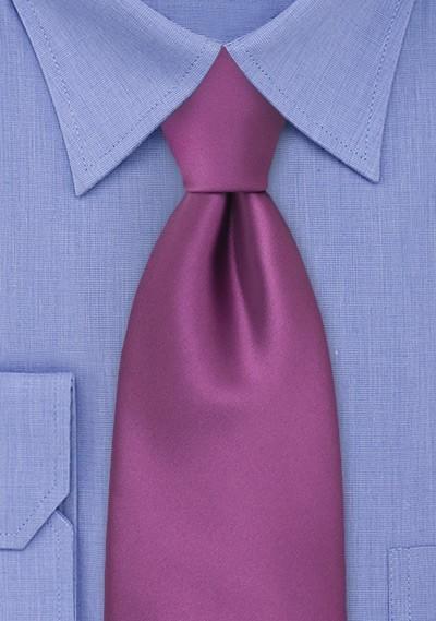Solid Dark Lilac Purple Necktie