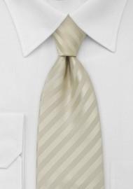 Subtle Striped Tie in Vanilla-Yellow