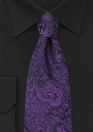 Purple Paisley Pattern Tie