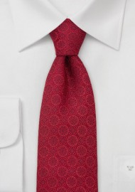 Designer Necktie by Chevalier in Venetian-Red