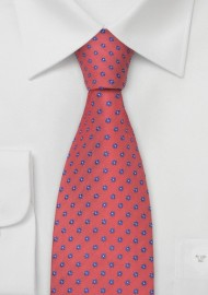 Coral-Red Silk Tie by Chevalier