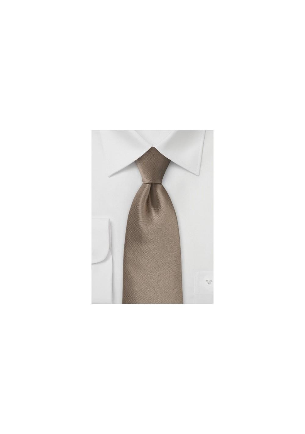 Bronze Brown Tie in XL Length