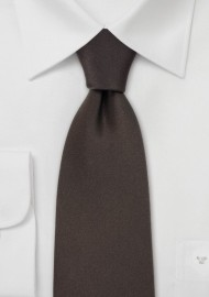 Solid Color Silk Ties Dark Brown