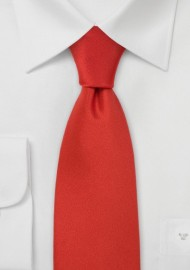Solid Color Ties Scarlet Red