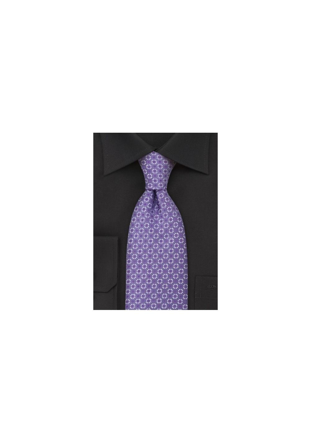 Foulard Silk Tie in Lilac Purple